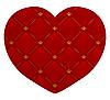 rotes Leder-Herz
