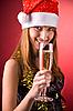 ID 3022431 | Mrs. Santa mit Champagner | Foto mit hoher Auflösung | CLIPARTO