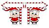 Weihnachtsmann-Helfer mit Anzeiger