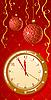 Grusskarte mit Uhr