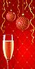 Glamour-Karte mit Champagner