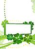 Blank mit grünen Kleeblätter