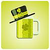 Векторный клипарт: зеленая пиво с пивом в шляпе
