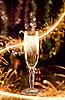 新年卡与香槟 | 免版税照片