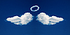 ID 3023318 | 天使的翅膀和灵气从云层中形成 | 高分辨率照片 | CLIPARTO