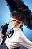 ID 3023324 | Mädchen in viktorianischer Kleidung mit Regenschirm | Foto mit hoher Auflösung | CLIPARTO