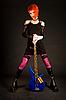 ID 3023340 | Romantyczna dziewczyna z gitara basowa | Foto stockowe wysokiej rozdzielczości | KLIPARTO