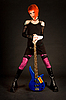ID 3023340 | Рок девушка с бас-гитарой | Фото большого размера | CLIPARTO