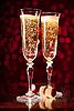 ID 3023458 | Dwa kieliszki szampana kryształ | Foto stockowe wysokiej rozdzielczości | KLIPARTO