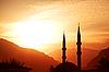 ID 3023508 | Moschee-Silhouette bei Sonnenuntergang | Foto mit hoher Auflösung | CLIPARTO