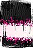 rosa-schwarzer Blumenhintergrund