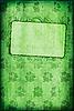 Alte Karte mit Klee und Rahmen | Stock Illustration
