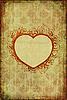 ID 3023700 | Alte Glückwunschkarte mit floralem Herz | Illustration mit hoher Auflösung | CLIPARTO