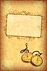 ID 3023704 | Alte Postkarte mit Uhr und Rahmen | Illustration mit hoher Auflösung | CLIPARTO