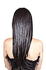 ID 3110075 | Rückansicht der jungen Frau mit schwarzen seidigen Haaren | Foto mit hoher Auflösung | CLIPARTO