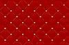 roter Leder-Hintergrund mit Herzen