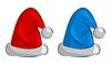 rote Weihnachtsmützen