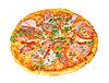 Pizza isoliert auf Weiß | Stock Foto