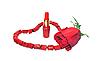 Rote Perlen, Rose und Lippenstift | Stock Foto