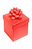 ID 3019905 | Red pudełko z kokardą samodzielnie na białym tle | Foto stockowe wysokiej rozdzielczości | KLIPARTO