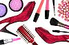 ID 3110558 | Kosmetik und rote Frauen-Schuhe | Foto mit hoher Auflösung | CLIPARTO