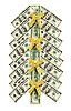 ID 3063312 | Choinka z banknotów dolarowych | Foto stockowe wysokiej rozdzielczości | KLIPARTO