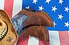 ID 3129198 | Ковбойские сапоги на американском флаге | Фото большого размера | CLIPARTO
