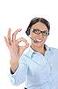 ID 3021605 | Schöne junge Frau in Kopfhörer | Foto mit hoher Auflösung | CLIPARTO
