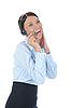 ID 3021608 | Piękne młoda kobieta w słuchawek | Foto stockowe wysokiej rozdzielczości | KLIPARTO