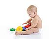 ID 3021646 | Szczęśliwe dziecko z zabawkami | Foto stockowe wysokiej rozdzielczości | KLIPARTO