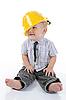 Фото 300 DPI: мальчик в желтом строительном шлеме