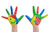 Ręcznie malowane Child | Stock Foto