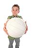 ID 3021941 | Młody piłkarz z duża piłka | Foto stockowe wysokiej rozdzielczości | KLIPARTO