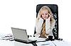 ID 3022019 | Müde junge Frau im Büro. | Foto mit hoher Auflösung | CLIPARTO