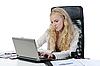 ID 3022020 | Frau im Büro am Arbeitsplatz | Foto mit hoher Auflösung | CLIPARTO