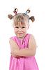 Zabawna dziewczyna w różowym. | Stock Foto
