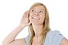 ID 3022060 | 面带微笑的妇女听新闻 | 高分辨率照片 | CLIPARTO