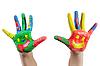 Malowane rąk dziecko | Stock Foto