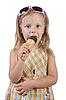Dziecko jedzenia lodów | Stock Foto