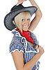 Young beautiful cowgirl | Stock Foto