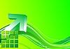 Zielona strzałka 3D | Stock Vector Graphics