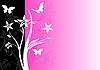 floraler rosa Hintergrund