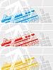 ID 3023009 | Helle bunte Werbebanner | Stock Vektorgrafik | CLIPARTO