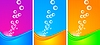 Vertikale Werbebanner mit Blasen
