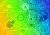ID 3024057 | Streszczenie opalizujący tło z kół i kwadratów | Klipart wektorowy | KLIPARTO