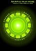 Czarne i zielone tło | Stock Vector Graphics