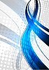 ID 3024708 | Blue fale na szarym tle | Klipart wektorowy | KLIPARTO