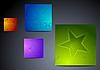다채로운 별 배경 | Stock Vector Graphics