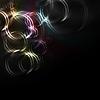 ID 3026183 | Schwarzer Hintergrund mit bunten Kreisen | Stock Vektorgrafik | CLIPARTO