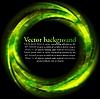 검은 배경에 녹색 동그라미 밝게 | Stock Vector Graphics